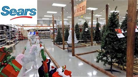 christmas  section  sears   christmas trees