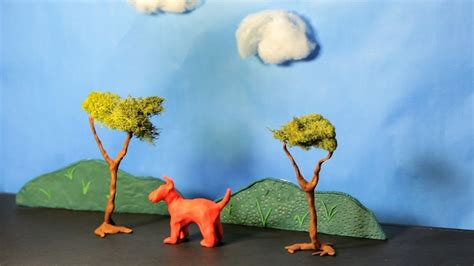 create clay scenery stop motion youtube