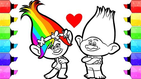 Trolls Poppy Coloring Pages