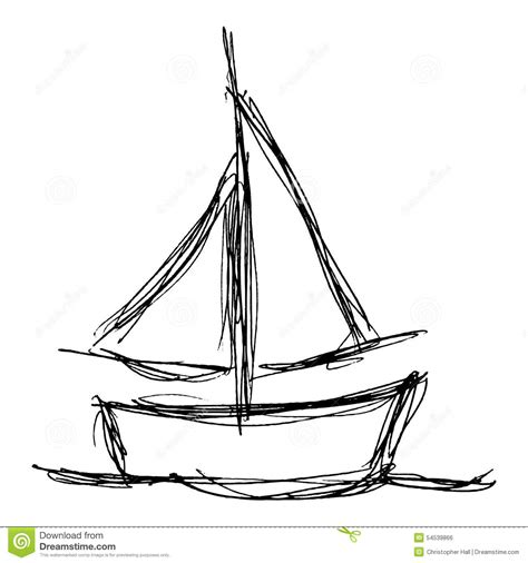 How To Draw A Keelboat by Drawn Sailboat Basic Pencil And In Color Drawn Sailboat