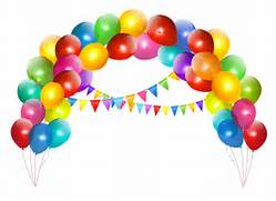 Transparent Balloon Arch with Decoration Clipart  Balloons Transparent