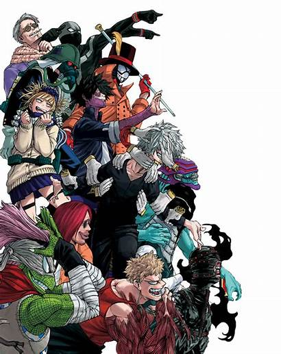 Villains League Shigaraki Villians Member Academia Hero