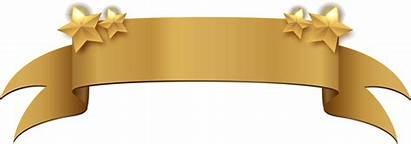 Banner Gold Ribbon Golden Title Clipart Start