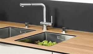 les eviers et mitigeurs With plan de travail cuisine avec evier integre