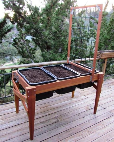 elevated planter box plans diy raised planter boxes raised garden planter plans