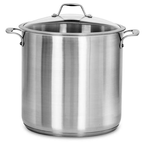american kitchen stainless steel stock pot  quart cutlery