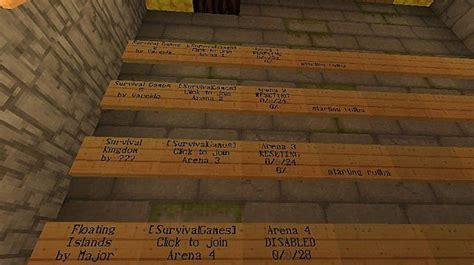 ip für außenbereich survival pvp mobarena und freebuild server minecraft server