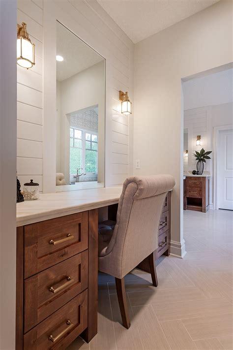 master makeup desk bedroom vanity house interior grey
