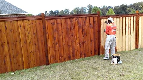 stain  wood fence youtube fence stain