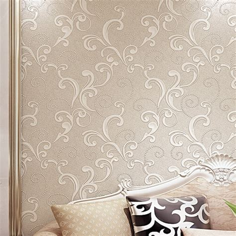 3d Wallpaper Texture For Bedroom by White Modern 3d Floral Wallpaper Embossed Textured