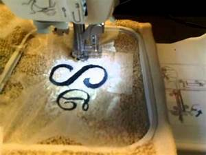 how to monogram using a embroidery machine youtube With sewing machine that does letters