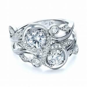 custom organic infinity diamond engagement ring 1383 With organic wedding rings