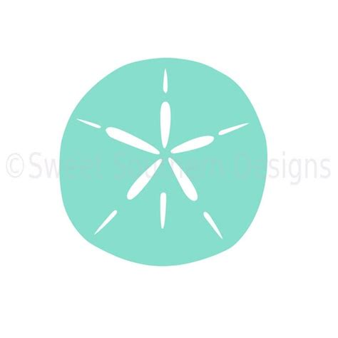 This listing is for a digital download that contains a zipped folder that includes a svg for cricut, dxf for silhouette, png for clip art, jpg for printables, and a eps file. Sand dollar SVG instant download design for cricut or