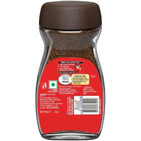 Instant coffee is a beverage that one can quickly prepare by adding water or milk to the powder or crystals and stirring. Buy Nescafe Classic Coffee 200g - Price, Specifications & Features   Sharaf DG