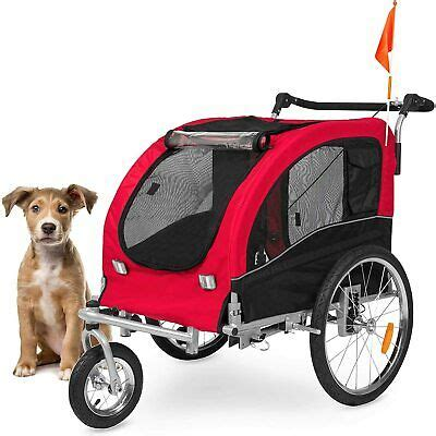 Best Choice Products 2-in-1 Pet Stroller and Trailer Red ...