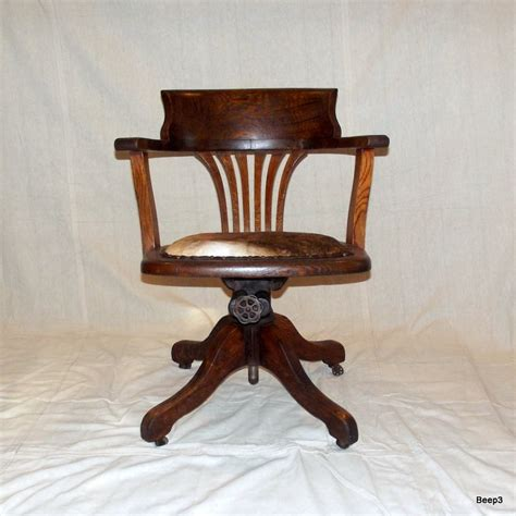 Antique Wood Bankers Chair by Antique Upcycled Wooden Bankers Office Chair End Of Summer