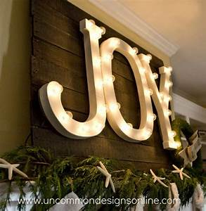 Joy letters in light blogher for Lighted joy letters