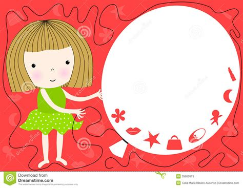girl holding balloon party invitation stock  image