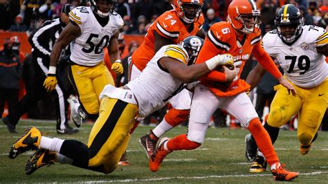 steelers  browns time tv schedule  game information