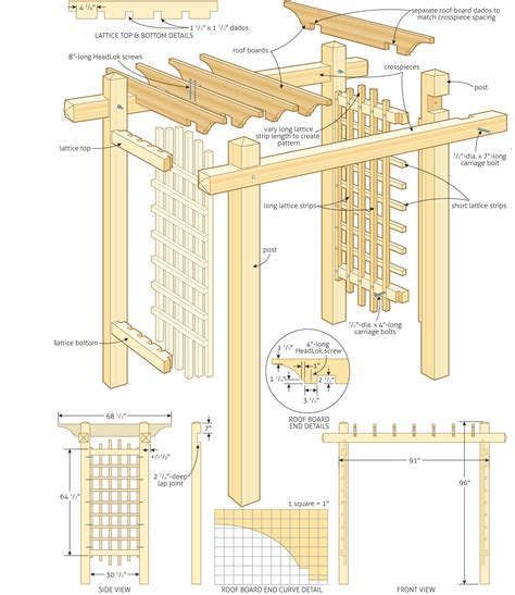 garden pergola construction pdf woodworking