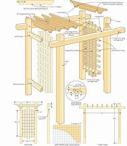 Garden Pergola Construction PDF Woodworking