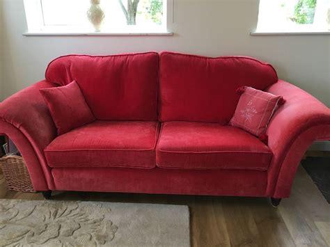 ebay leather sofas laura ashley laura ashley mortimer sofa red ebay