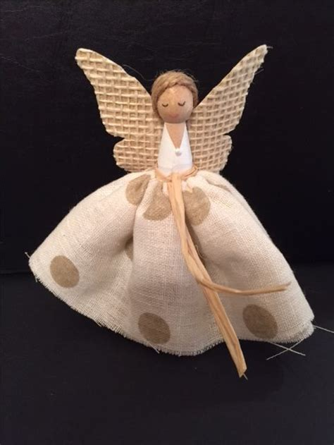 christmas angel clothes peg doll clothespin dolls