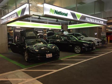 testing national car rentals premier selection stuck