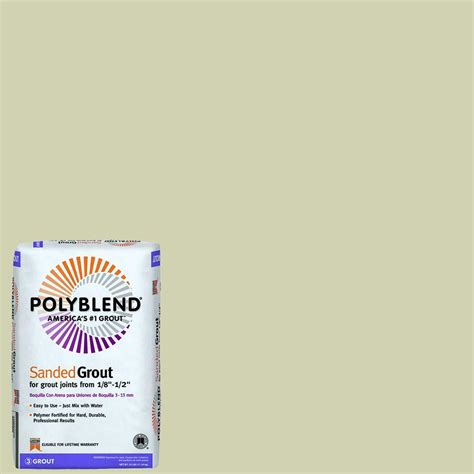 custom building products polyblend  bone  lb sanded