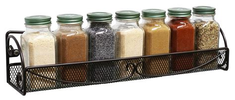 Single Spice Rack by Decobros 2 Pack Wall Mount Single Tier Mesh Spice Rack