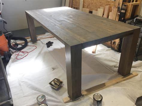 shanty 2 chic farmhouse table diy modern farmhouse table as seen on hgtv open concept
