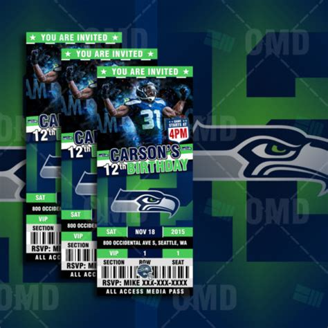 sports invites  seattle sports party seahawks