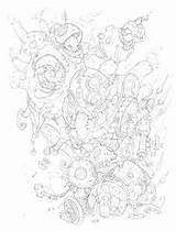 Edouard Guiton Bor Tir Coloring Nains Confrontation Dwarves Guillotine sketch template