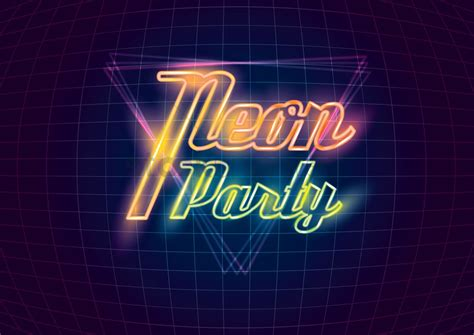Neon party design Vector Image - 1962534 | StockUnlimited