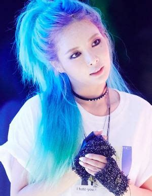 rocks blue hair kpop female edition updated