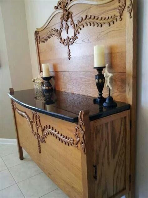 Repurposed Sideboard by Sideboard Made From Antique Headboard And Footboard