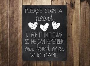 Guestbook Sign Wedding Please Sign A Heart Drop In Jar Wedding Guest Book Sign Our