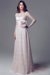 bridal trends 2014 all in the details illusion sleeves With pink wedding dress with sleeves