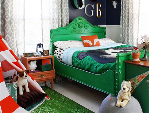 vintage camping boys bedroom retreat