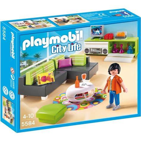 villa moderne playmobil pas cher playmobil 5584 salon moderne achat vente univers miniature cdiscount