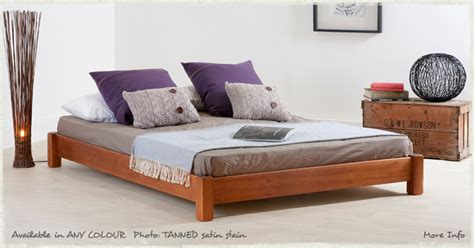 Low Platform Wooden Bed Frame