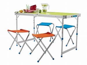 Table à Tapisser Lidl : table pliable avec 4 tabourets chez lidl jeudi 28 04 ~ Dailycaller-alerts.com Idées de Décoration