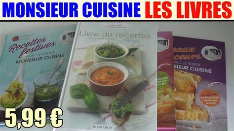 livres de recettes monsieur cuisine silvercrest lidl