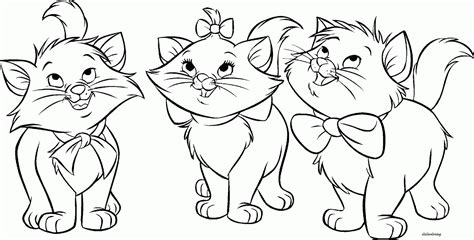 printable  friendly pussy cats enjoying happy time
