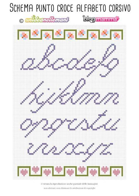 lettere dell alfabeto a punto croce ricamare lettere schema alfabeto a punto croce minuscolo
