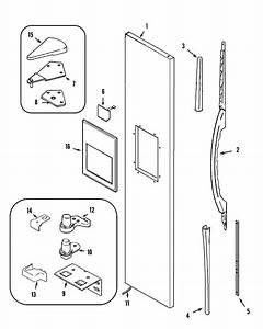 Freezer Outer Door  Msd2732grq  W  Diagram  U0026 Parts List For