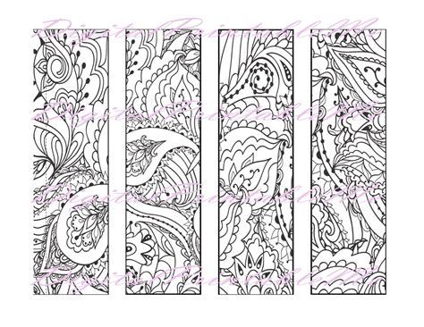free adult coloring bookmarks printable bookmark coloring page book mark adult instant