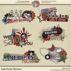 large scrapbook american heroes digital scrapbooking wordart