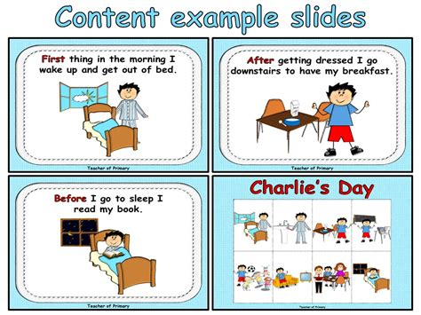 Sequencing Events  Charlie's Day By Onlineteaching