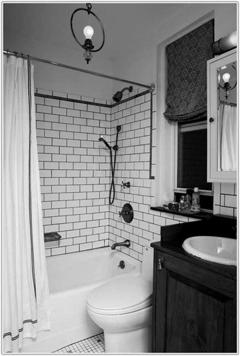 Black White Subway Tile Bathroom  Tiles  Home Decorating